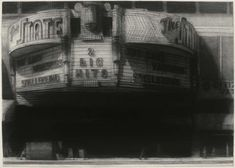 Richard Bunkall: The State Theater, 30'' x 42'', charcoal on paper, 1992