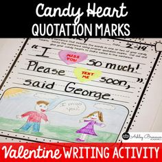 This FREE fun activity is perfect for the month of February and to use around Valentine's Day.  It reinforces the use of quotation marks.  Students use candy conversation hearts as part of their dialogue sentences to teach, review, or reinforce the proper use of quotation marks.You will also LOVE:Chinese New Year UnitAfrican American/Black History Unit for ENTIRE MonthGroundhog Day Mini UnitPresidents.