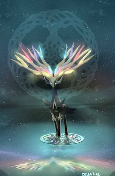 Xerneas The Yggdrasil Guardian by celestial080.deviantart.com on @DeviantArt