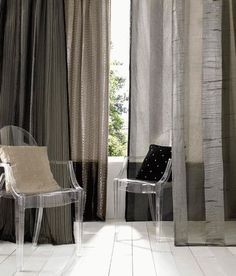 Mendoza sheers by Kai Windows Decor, Sheer Linen Curtains, Living Spaces, Living Room, Spare Room, Mendoza, Conservatory, Luxury Living, Contemporary