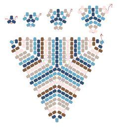 Peyote Power Triangle stitch and bead overlay drawn by Dustin Wedekind, 2010