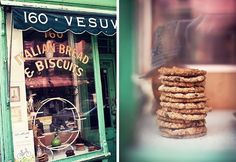 love the style of this italian bread and biscuit shop