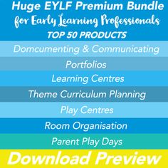EYLF MEGA BUNDLE - TOP 50 Products for Early Learning Professionals
