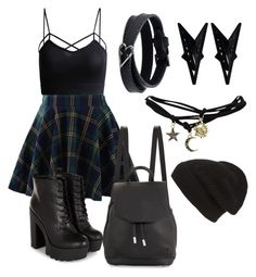"""""""Cute But Edgy"""" by punk-is-my-middle-name ❤ liked on Polyvore featuring moda, Chicwish, mizuki, Eddie Borgo, Wet Seal, rag & bone y Phase 3"""