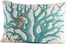 N.4 Blue Coral Pillow