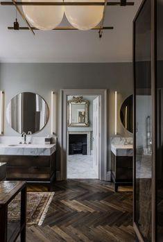 Harley Street - SHH by bobbi Modern Bathroom Design, Interior Design Kitchen, Interior Decorating, Residential Interior Design, Decorating Ideas, Bathroom Renovations, Home Remodeling, Remodel Bathroom, Planchers En Chevrons
