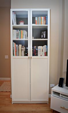 ikea hack: billy bookcase and besta storage unit