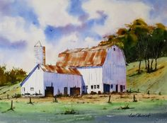 "Davis Hollow - 11x15"" original watercolor painting by Jim Oberst - $200 incl. U.S. shipping"
