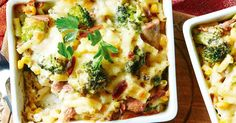 For a quick and easy pantry meal try these individual creamy tuna pasta bakes.
