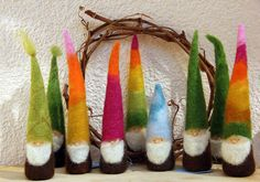 Waldorf Inspired Felted Gnomes