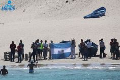 El tucumano Matías Ola unió a nado Europa con África a través del Estrecho de Gibraltar