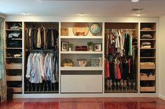 Dressing IKEA à base d'armoires PAX hack #armoire #dressing #rangement