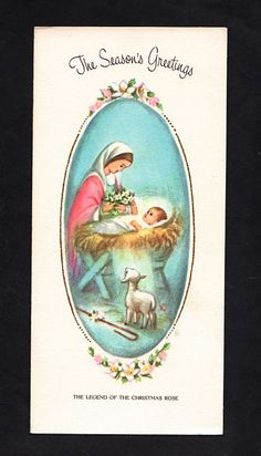 """Christmas Card """"The Legend of The Christmas Rose"""" HP 37   eBay"""