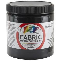 Fabric Screen Printing Ink 8 Ounces-Black | SongbirdCrafts - Paint & More on ArtFire
