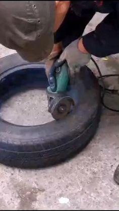 Tire Garden, Garden Yard Ideas, Diy Garden Projects, Diy Garden Decor, Garden Crafts, Old Tire Planters, Tire Craft, Painted Tires, Tire Furniture