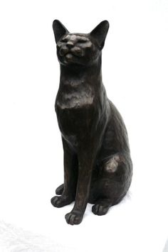 Genial Oriental Cat Sculpture