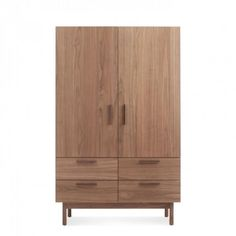 Shale Light Walnut Solid Wood Wardrobe Wooden Wardrobe Wardrobe Furniture Modern Bedroom Furniture