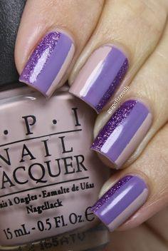 Purple Stripes - grape fizz nails