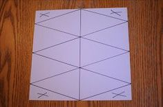 How to maximize banner triangles from a 12 x 12 sheet of paper. 4, 8 / 2, 6, 10