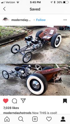 Can u say genius way for bad ass board walk rat rods