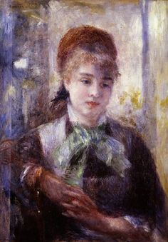 "The artwork history: Pierre-Auguste Renoir - ""Nini in the Garden (Nini Lopez)"" - 1876"