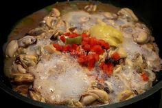 Μύδια σαγανάκι, Θεσσαλονίκης ⋆ Cook Eat Up! Pork, Chicken, Meat, Kale Stir Fry, Pigs, Cubs, Kai