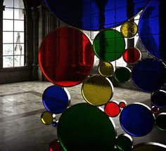 Home Decorating Accessories: Stained Glass Screen Divider by Unda