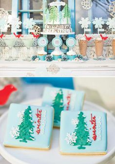 Woodsy Christmas table featured on hostess with the mostess