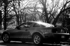 Ford Mustang, in front of Dallas Cowboys Stadium