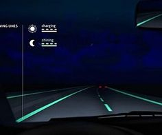 Estúdio de design holandês projeta uma estrada que brilha no escuro para contribuir para maior segurança para os motoristas. @Elieser Diaz Rodriguezão PME