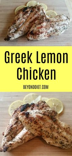 Greek Lemon Chicken - Whip up the marinade in the morning, let marinate while at work, and dinner is super easy when you get home! Healthy Eating Recipes, Healthy Dishes, Meat Recipes, Chicken Recipes, Dinner Recipes, Cooking Recipes, Recipies, Clean Eating Chicken, Chicken Meal Prep