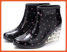 Sheinfashion Women's Wedges Rain Boots Garden Shoes Pink 9.0 M US - Boots for women (*Amazon Partner-Link)