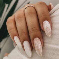 Elegant Nails, Classy Nails, Simple Nails, Elegant Nail Designs, Casual Nails, Stylish Nails, Aycrlic Nails, Chic Nails, Nagellack Design