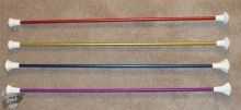 Kids love color! Our colored twirling batons are super popular and come in purple, blue, gold or red. $28.99