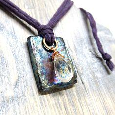 Tile+Necklace+Raku+Ceramic+Organic+Jewelry+Eco+by+mmartiniuk,+$36.00