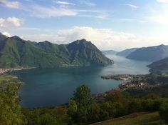 Lake Iseo from Lovere, Italy