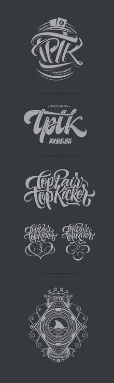 TPTK T-shirts by Joluvian, via Behance