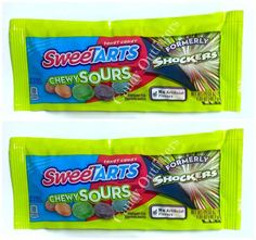 NEW CANDY - SWEETARTS CHEWY SOURS - EXTREME SOUR CANDIES - 2 Packs  #Wonka