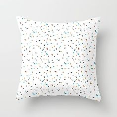 watercolour dots by Emma Wilson. Throw Pillow made from 100% spun polyester poplin fabric, a stylish statement that will liven up any room. Individually cut and sewn by hand, each pillow features a double-sided print and is finished with a concealed zipper for ease of care.  Sold with or without faux down pillow insert.