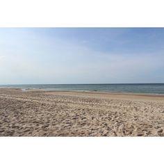 #sea #balticsea #poland #bluesky #sand #2015 #summer #goodweather #instamood #beach #nicecolors #wishiwastherenow #holidays #canon #nopeople #alone #calm #relax