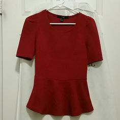 Forever 21 Red Top Super cute worn only a couple times, fits great nice red Forever 21 Tops Blouses