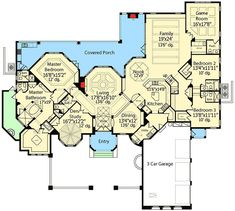 Street of Dreams - floor plan - Main Level Luxury House Plans, Dream House Plans, House Floor Plans, My Dream Home, Dream Houses, Tiny Houses, The Plan, How To Plan, Florida House Plans