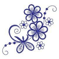 A set of a dozen Simple Flowers offer a terrific solution to drab table and bed linens. Embroidery Flowers Pattern, Rose Embroidery, Hand Embroidery Designs, Flower Patterns, Flower Designs, Embroidery Stitches, Embroidery Applique, Flower Doodles, Flower Template