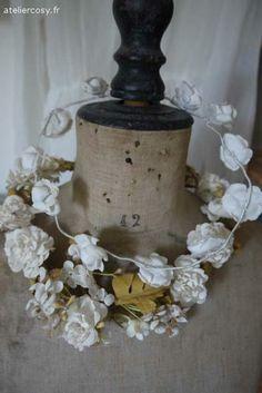 Ancienne couronne de mariée Brocante de charme atelier cosy.fr