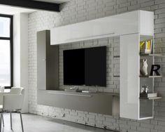 Contemporary TV unit modular storage and bookcase