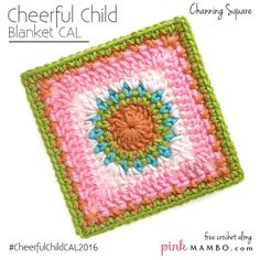 Cheerful Child Crochet Along Channing Square #13 - Pink Mambo