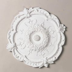 "15"" Ornate Round Ceiling Medallion: 49.00 (a ceiling medallion should be 2/3 the diameter of the chandelier)"