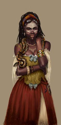ArtStation - Pirate Voodoo queen Orma, Anne-Lise Loubière