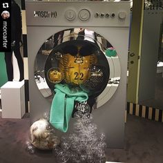 """LE PRINTEMPS (In-Store), Paris,France, """"MOSCHINO LAUNDRY DAY"""", pinned by Ton van der Veer"""