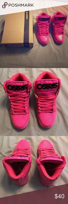 Brand New Osiris Neon Pink Skateboarding Shoes Brand new Osiris men's 9.5 skateboarding shoes in neon pink. Osiris Shoes Sneakers